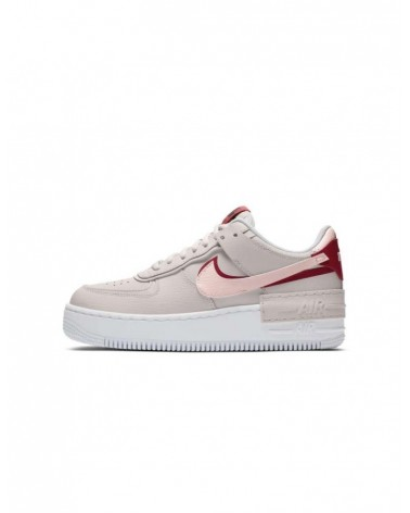 Nike Air Force One Shadow Rojas/Beige