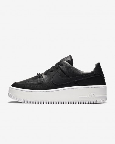Nike Air Force 1 Sage Low Negras