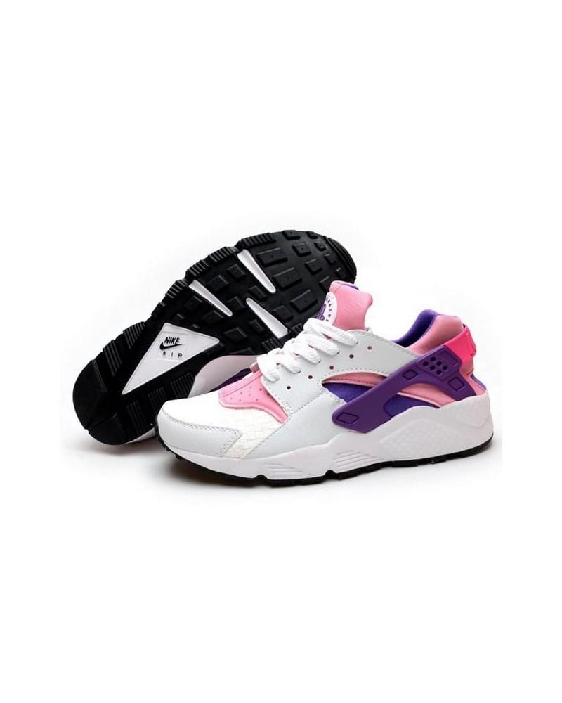 diseño de moda nueva lanzamiento el precio más bajo NIKE HUARACHE GRIS ROSA VIOLETA - Factory Shoes