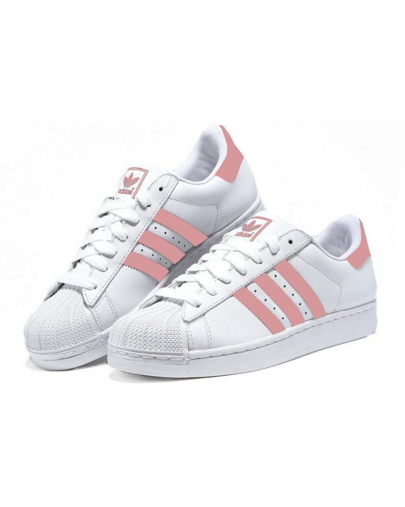 ADIDAS SUPERSTAR BLANCAS ROSA Factory Shoes
